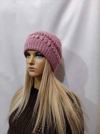 Шапка женская YUAN MENG Азалия 8020 розовый, фото 2
