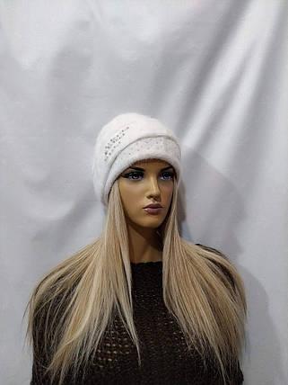Шапка женская YUAN MENG Мунира 8132 белый, фото 2