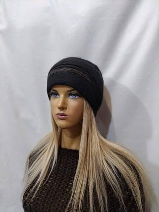 Шапка женская YUAN MENG Джина 8170 черный, фото 2
