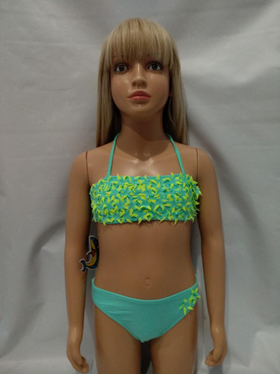 Купальник TERES   для девочек  Даринка 825   мята  (есть 4-6 лет/6-8 лет/ размеры)