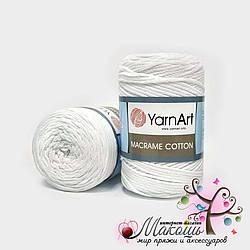 Пряжа Macrame Cotton YarnArt, №751, белый