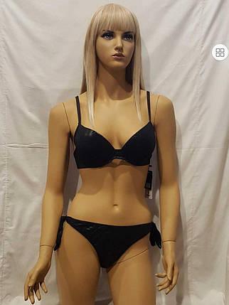 Купальник SISIANNA  С имитацией кожи 17901  черный (есть 48 размеры), фото 2