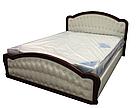 Ліжко двоспальне з м'якою спинкою з матрацом з підйомним механізмом 160х200 Силена-2 Sofa, фото 2