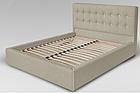 Ліжко півтораспальне з м'якою спинкою без матрацу з підйомним механізмом 140х200 Призма Sofa, фото 2