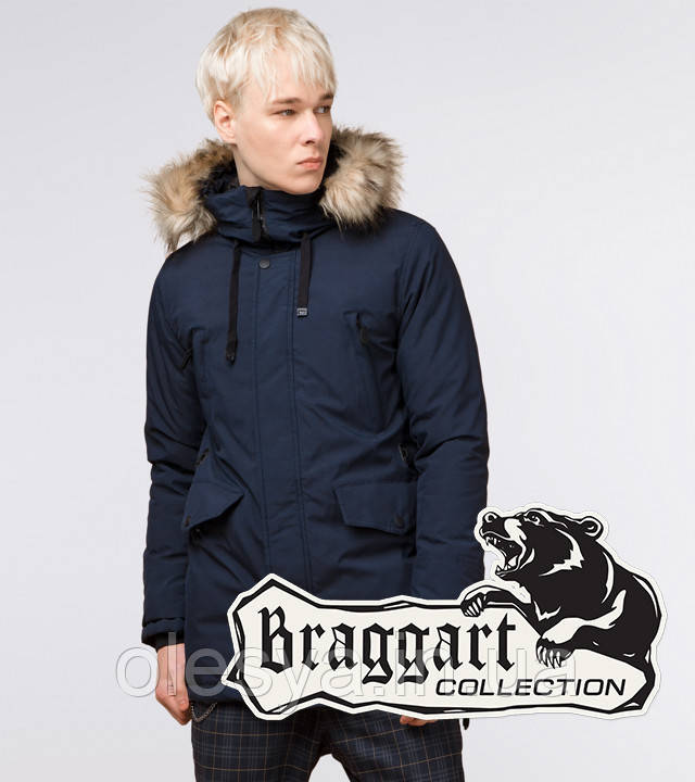 Braggart Youth | Зимняя парка молодежная 25750 темно-синяя