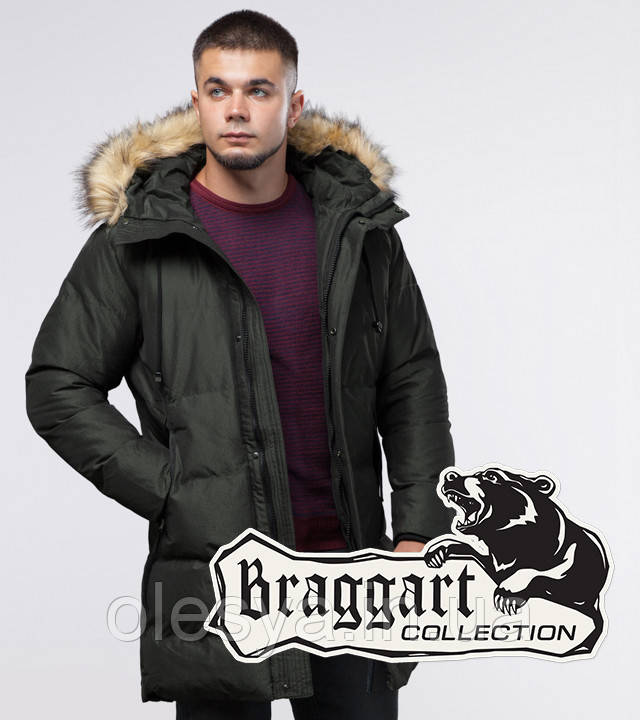 Braggart Youth | Зимняя куртка 25150 темно-зеленая