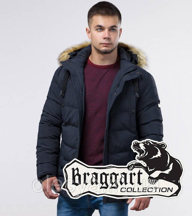 Braggart Youth | Куртка зимняя молодежная 25370 темно-синяя
