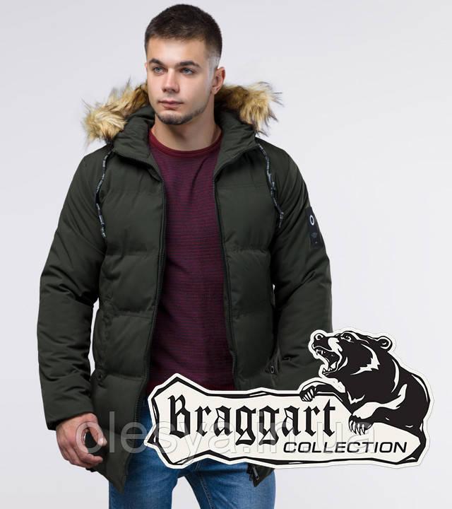Braggart Youth | Зимняя куртка молодежная 25270 темно-зеленая