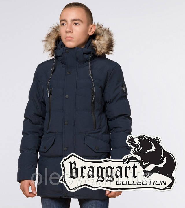 Braggart Youth | Зимняя куртка молодежная 25230 синяя