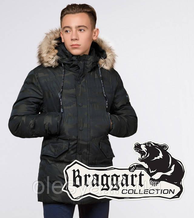 Braggart Youth | Куртка зимняя молодежная 25450 темно-зеленая
