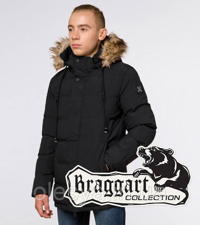 Braggart Youth | Зимняя куртка молодежная 25210 черная
