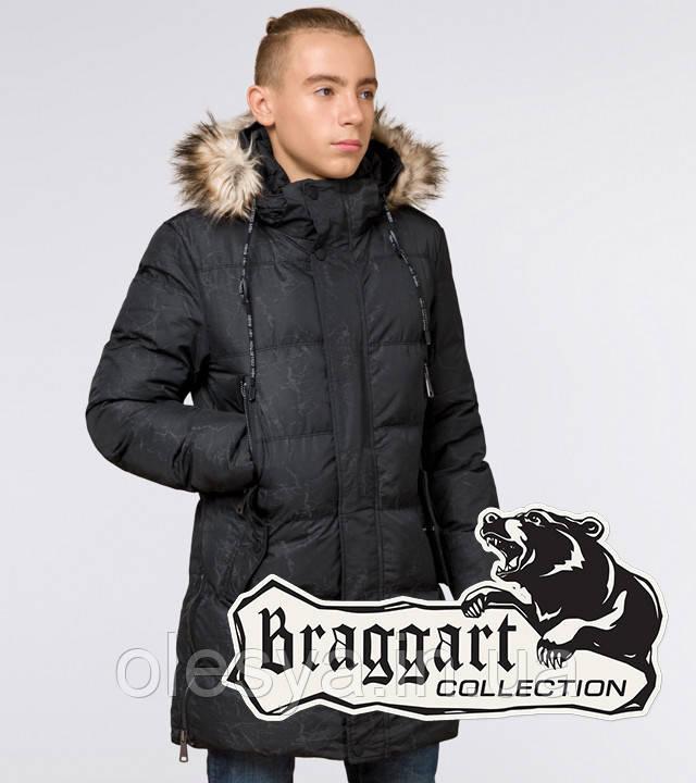 Braggart Youth | Зимняя куртка молодежная 13-25 лет 25070 черная