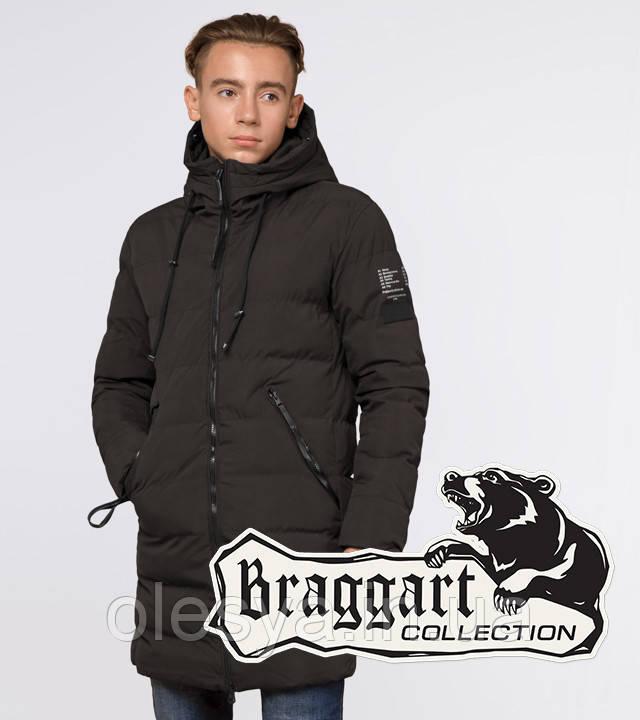 Braggart Youth | Зимняя куртка молодежная 13-25 лет 25240 кофе