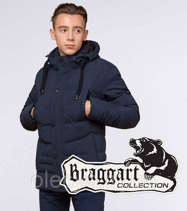 Braggart Youth | Зимняя куртка молодежная 13-25 лет 25480 темно-синяя