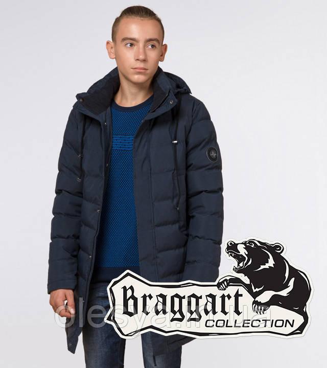 Braggart Youth | Зимняя куртка молодежная 13-25 лет 25160 синяя