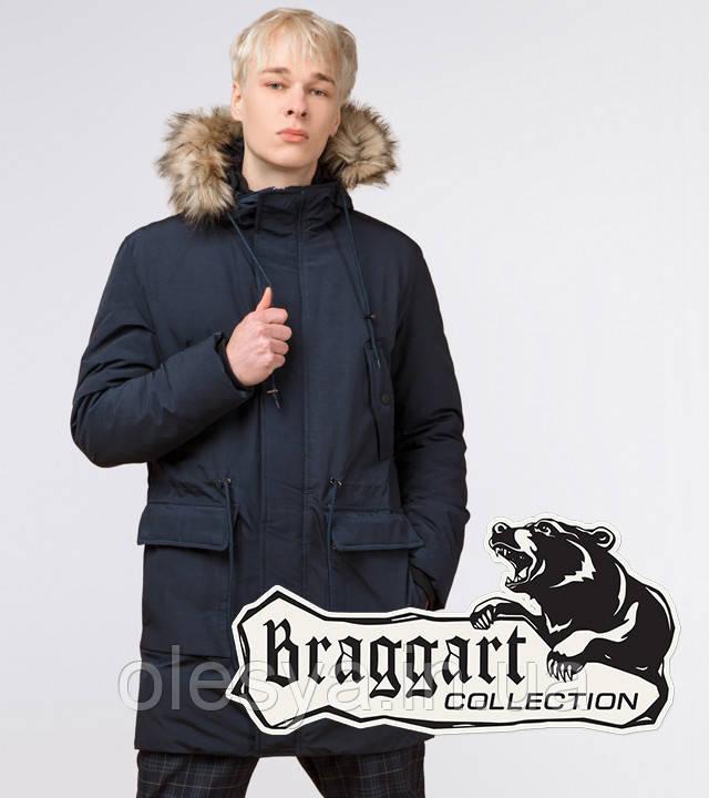 Braggart Youth | Парка зимняя молодежная 12-25 лет 25690 темно-синяя