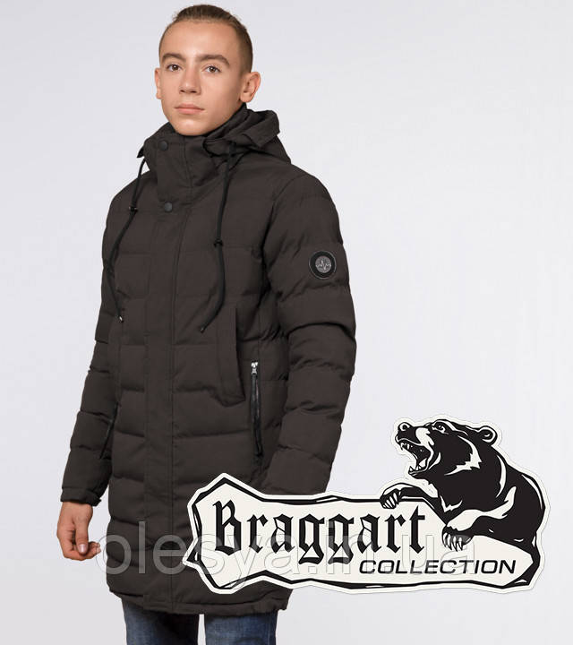 Braggart Youth | Куртка зимняя молодежная 25160 кофе