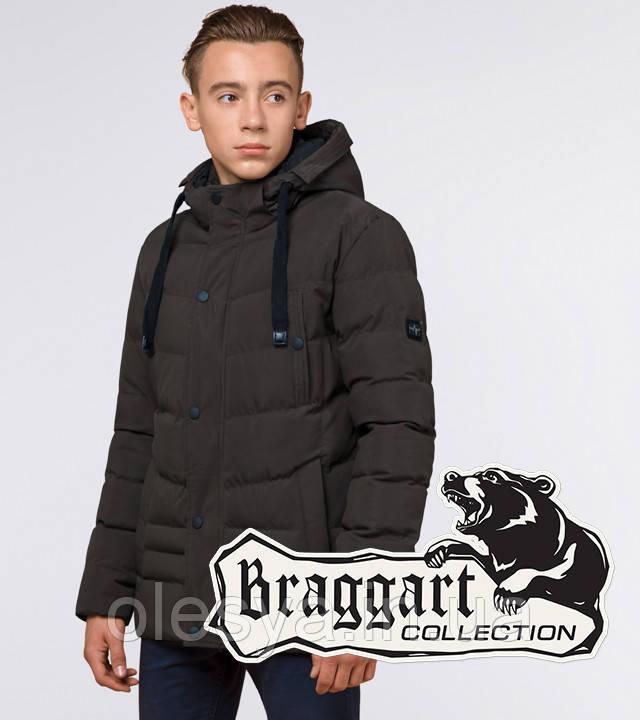 Braggart Youth | Зимняя куртка молодежная 25480 кофе
