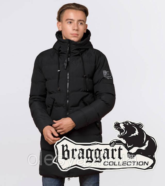 Braggart Youth | Зимняя куртка молодежная 25240 черная