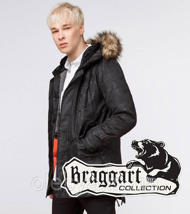 Braggart Youth   Парка мужская зимняя 25620 черная