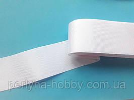 Стрічка репсова широка, 50 мм, біла. Туреччина