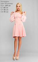 Женское расклешенное платье с шифоновым рукавом (3177 lp), фото 3