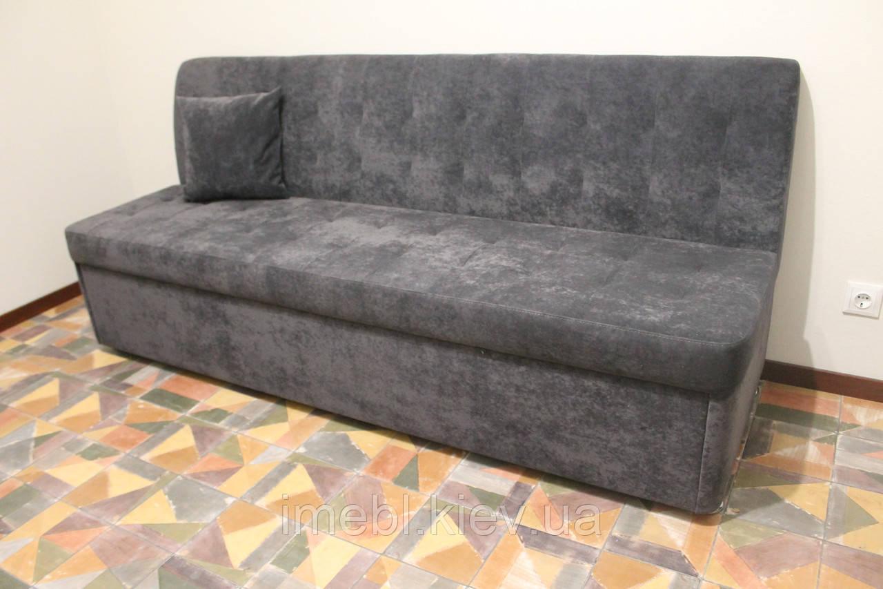 Прямий диван зі спальним місцем у вузьку кухню (Сірий)