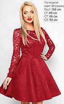 Женское замшевое расклешенное платье с гипюровыми рукавами (3017/2 lp), фото 2