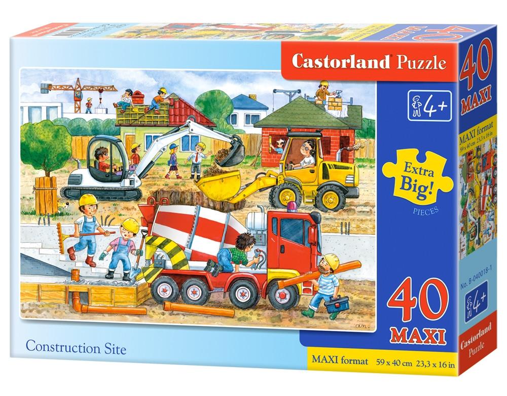 """Пазлы Castorland B-040018 """"Строительство"""" 40 элементов (B-040018)"""
