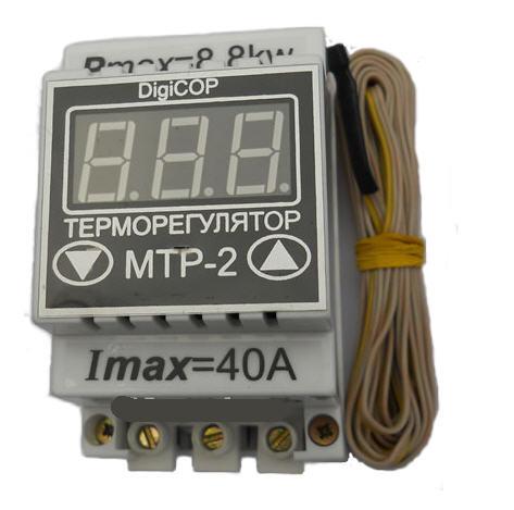 Терморегулятор МТР-2 - 40А DigiCop DIN рейка,электрооборудование для сада и дома,качество