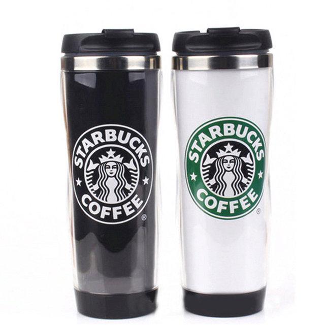 Термокружка Starbucks Coffee из нержавеющей стали с пластмассовой крышкой-поилкой 420 мл EL-203