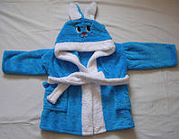 """Детские махровые халаты с капюшоном """"Заяц"""".42-46 размер, фото 1"""