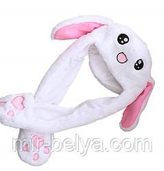 Шапка в виде зайца с двигающимися ушами!