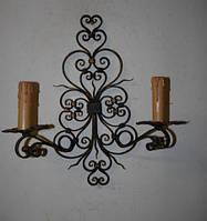 Кованый подсвечник на две свечи
