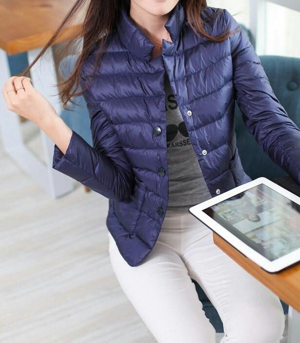 Укороченная куртка-жакет на синтепоне