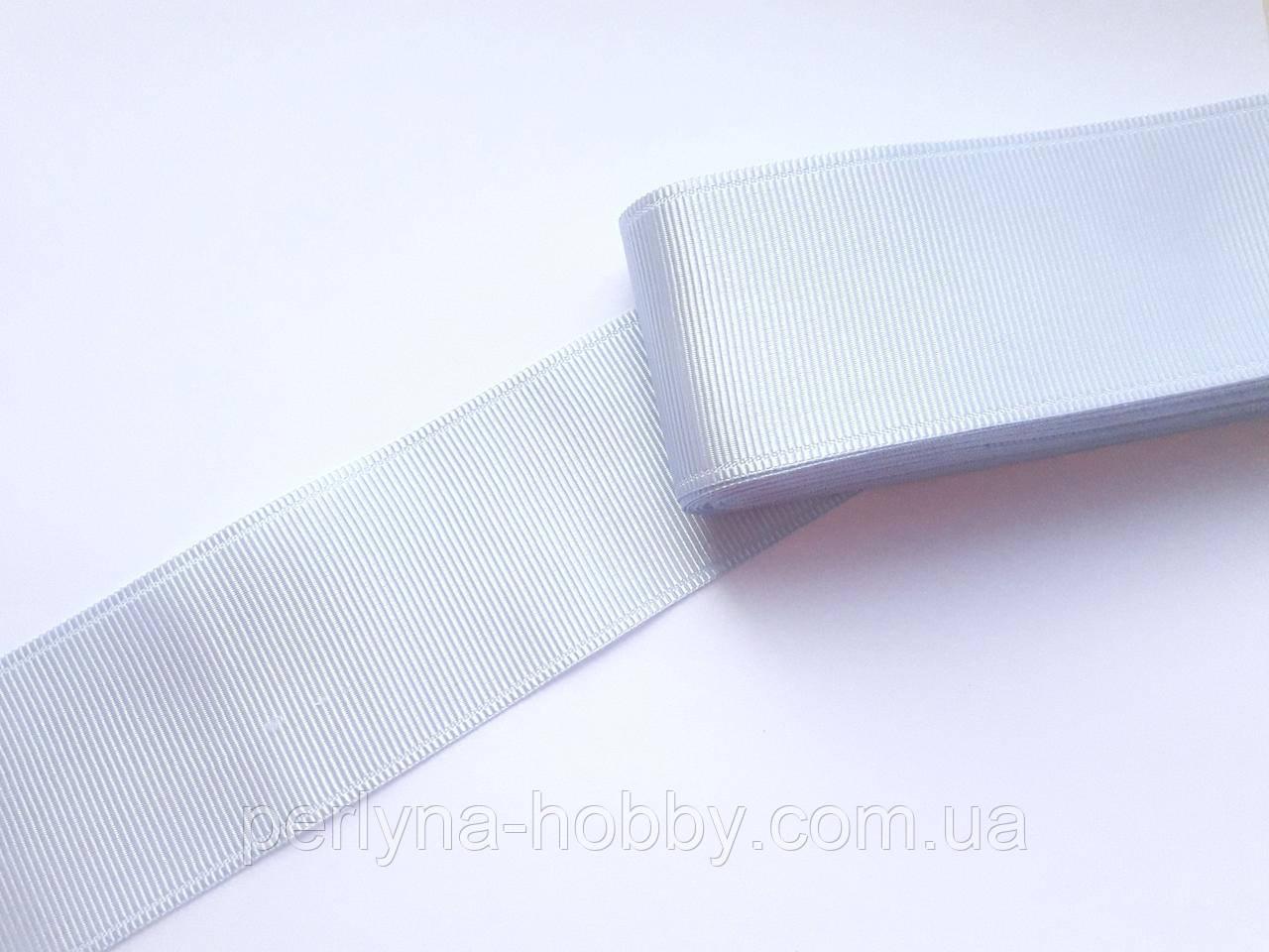 Стрічка репсова широка, 50 мм, ніжно-голуба № 91. Туреччина