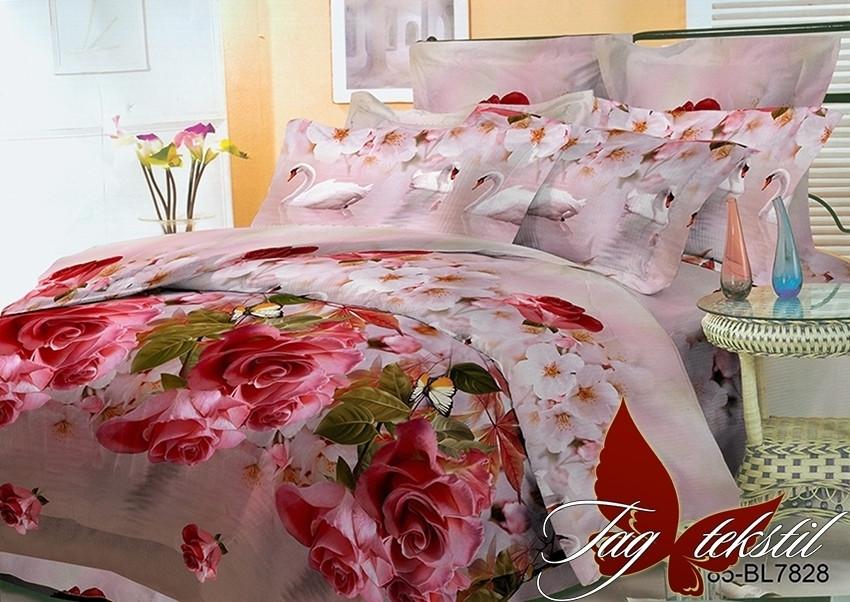 Комплект постельного белья BR7828 двуспальный (TAG polycotton 2-sp-522)
