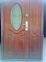 Двері китайські з вітражем півторачки