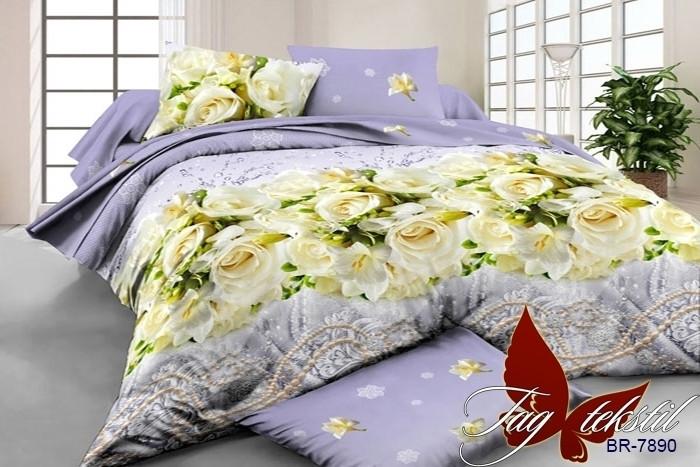 Комплект постельного белья BR7890 двуспальный (TAG polycotton 2-sp-523)