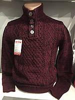 Мужской свитер с высоким воротником L