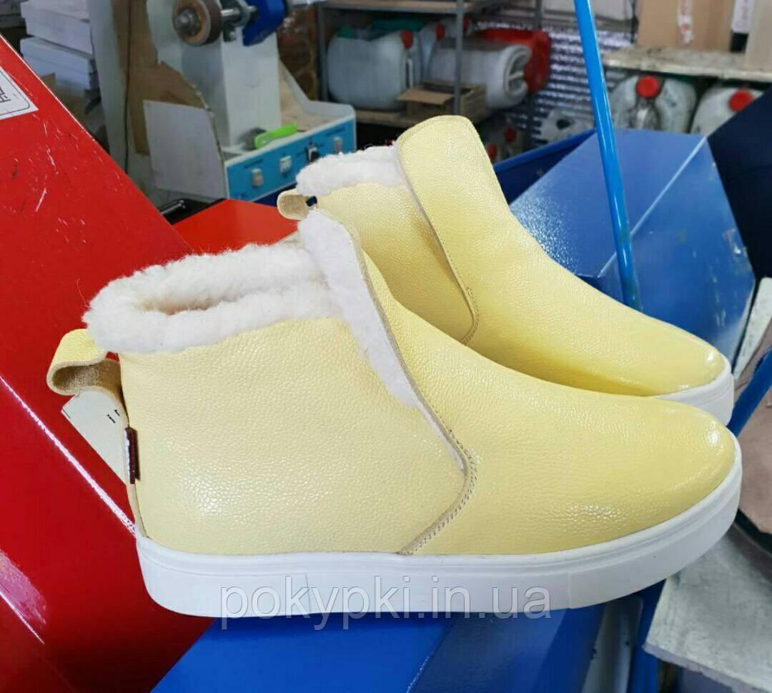 5b6f6fe32 Зимние ботинки угги удобная зимняя обувь женская детская желтого цвета с 32  по 41 размер -
