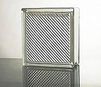 Стеклоблок бесцветный Oblique Line 1919/8