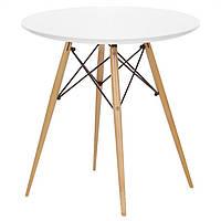 Стол обеденный Тауэр Вуд, круглый, диаметр  120 см, цвет белый