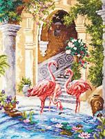 """Набор для вышивания крестом """"Розовые фламинго"""""""