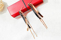 Серьги-подвески позолоченные, фото 1