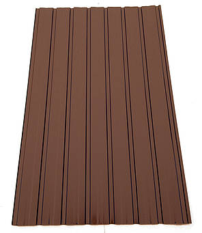 Профнастил  для забора ПС-10 цветной, цвет: шоколад, 0,25мм 1,75м Х 0,95м, фото 2