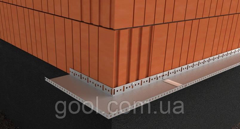 Цокольный стартовый алюминиевый профиль в системе утепления фасада свойства, технология монтажа, функция и эксплуатация!