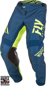 Мото штаны FLY Kinetic Shield navy/hi-vis 28