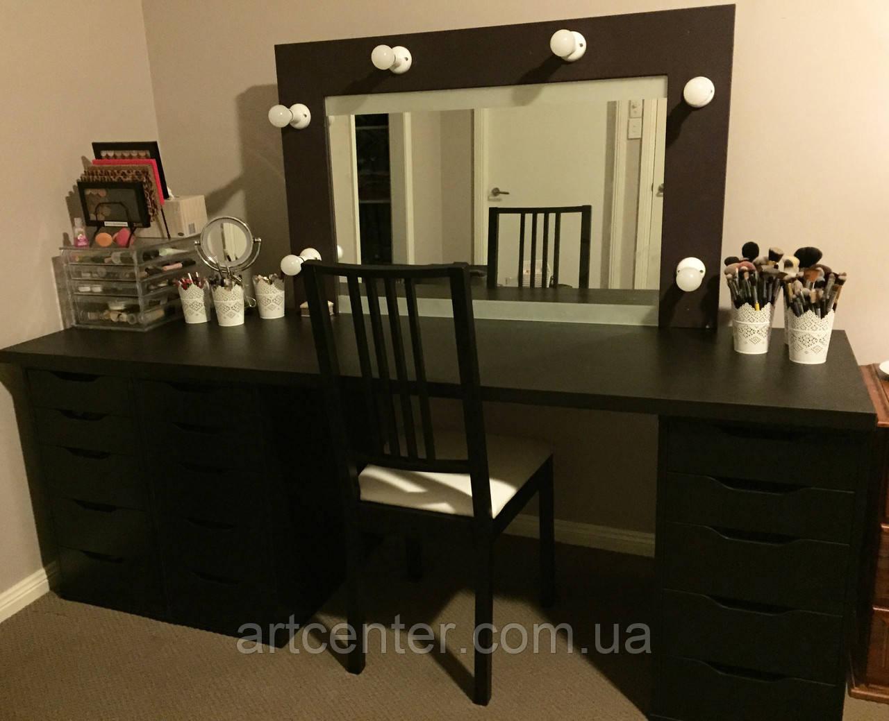 Туалетный стол, гримерный стол, визажный стол черного цвета