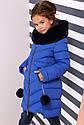 Зимнее пальто на девочку Ясмин с мутоном Тм Nui Very  Размеры 116- 158 Мята, фото 9